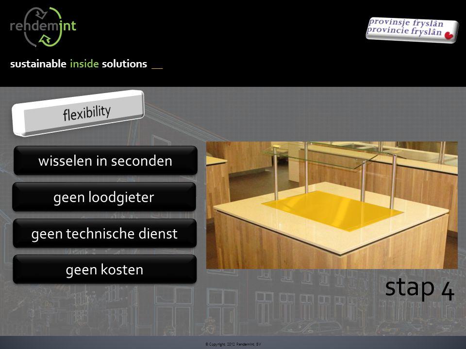 sustainable inside solutions © Copyright 2012 Rendemint BV stap 4 wisselen in seconden geen loodgieter geen technische dienst geen kosten