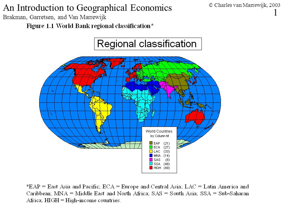 © Charles van Marrewijk, 2003 2 An Introduction to Geographical Economics Brakman, Garretsen, and Van Marrewijk