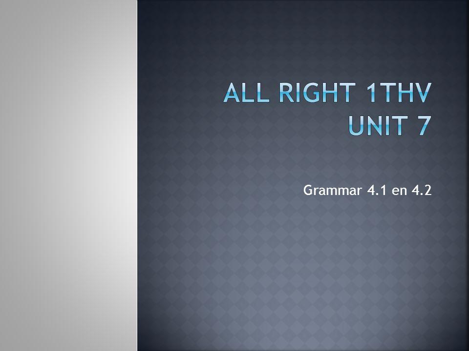 Grammar 4.1 en 4.2
