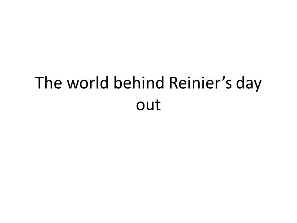 Scenario v1.0: Reinier's day out