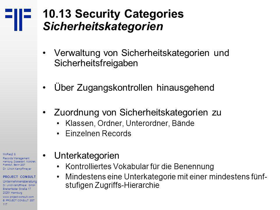 117 MoReq2 & Records Management Hamburg, Düsseldorf, München, Frankfurt, Berlin 2007 Dr.