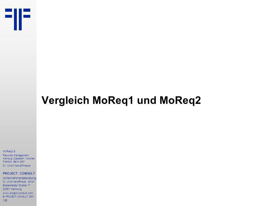 135 MoReq2 & Records Management Hamburg, Düsseldorf, München, Frankfurt, Berlin 2007 Dr.