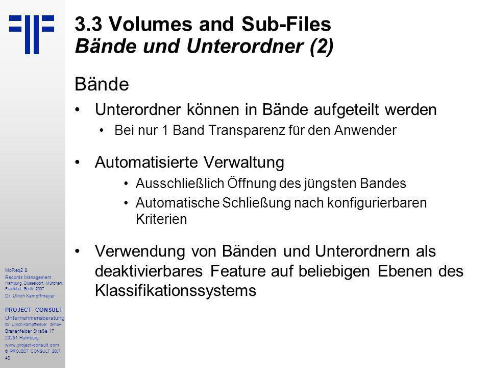 40 MoReq2 & Records Management Hamburg, Düsseldorf, München, Frankfurt, Berlin 2007 Dr.