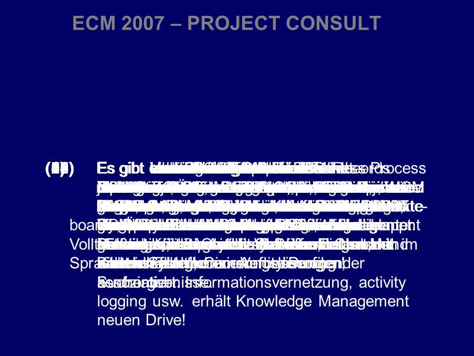 38 CIO Dialog ECM-Schlüsseltechnologie für globale Serviceorientierung Dr.