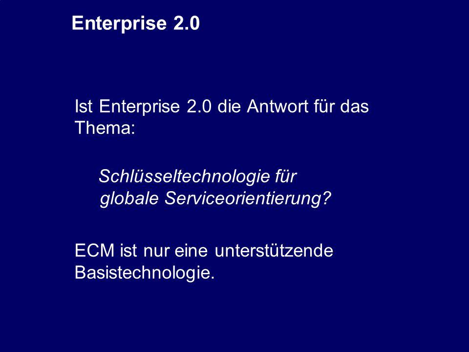 44 CIO Dialog ECM-Schlüsseltechnologie für globale Serviceorientierung Dr.
