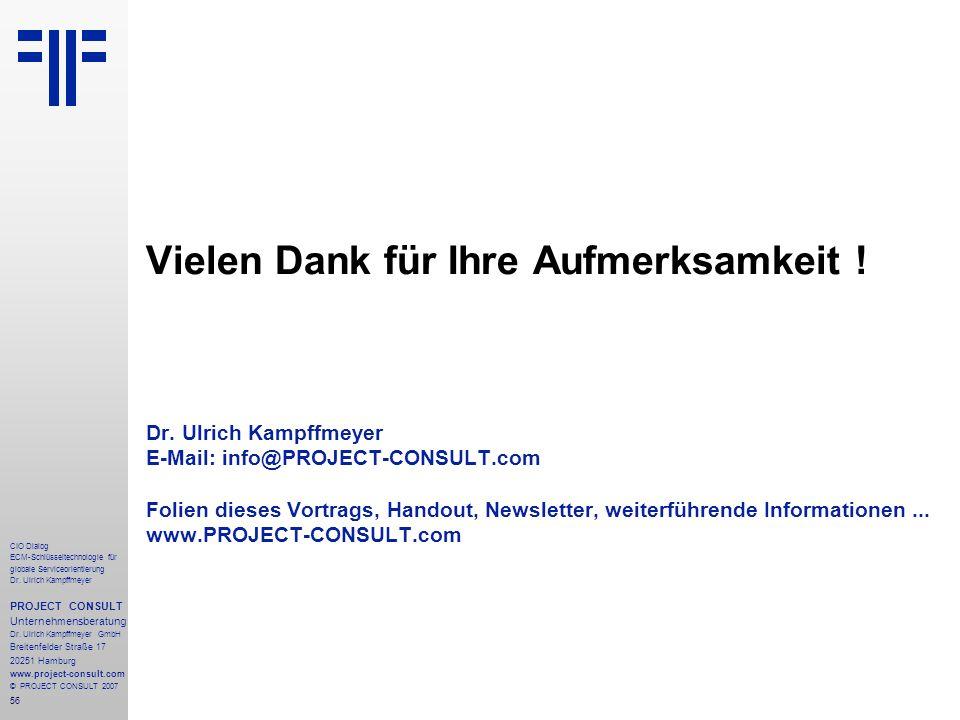 56 CIO Dialog ECM-Schlüsseltechnologie für globale Serviceorientierung Dr.