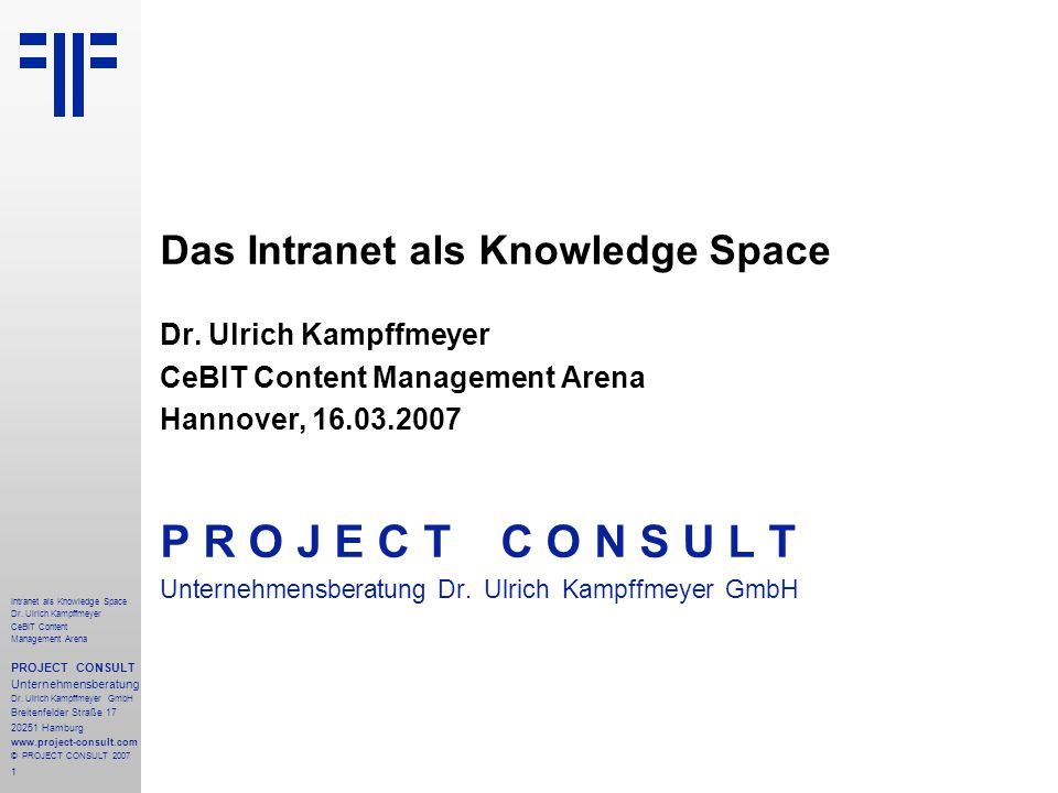 22 Intranet als Knowledge Space Dr.