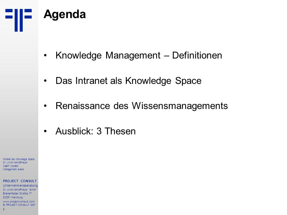 2 Intranet als Knowledge Space Dr.