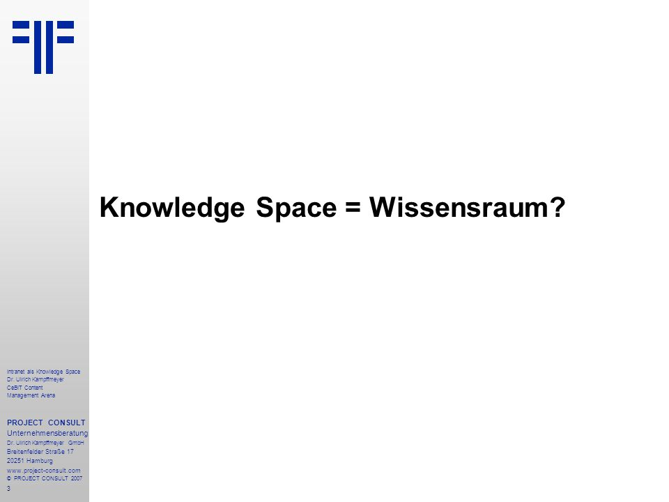 34 Intranet als Knowledge Space Dr.