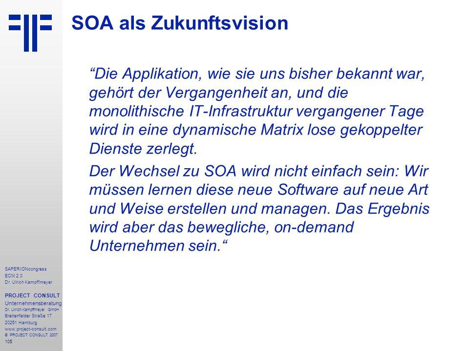 105 SAPERIONcongress ECM 2.0 Dr.Ulrich Kampffmeyer PROJECT CONSULT Unternehmensberatung Dr.