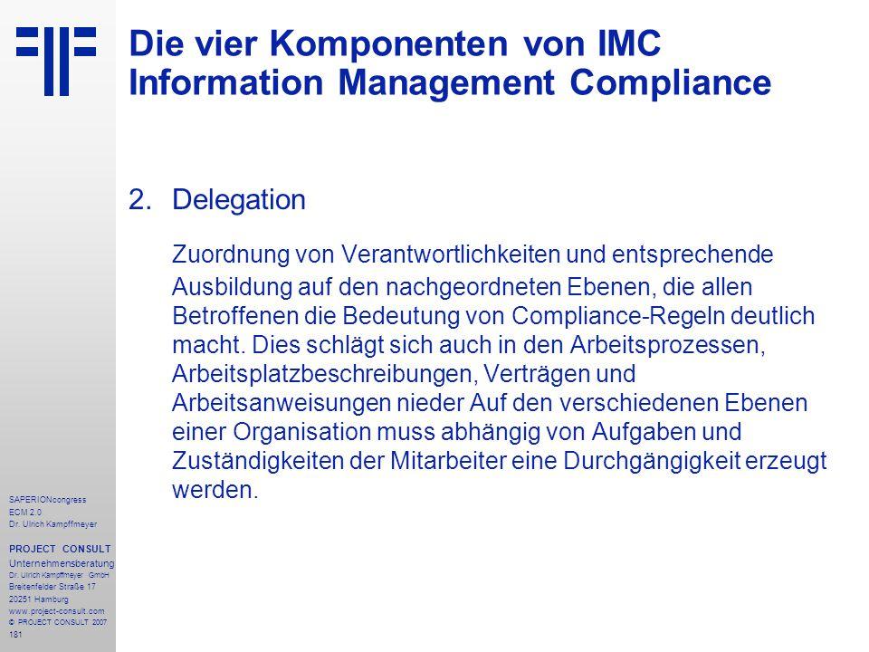 181 SAPERIONcongress ECM 2.0 Dr.Ulrich Kampffmeyer PROJECT CONSULT Unternehmensberatung Dr.