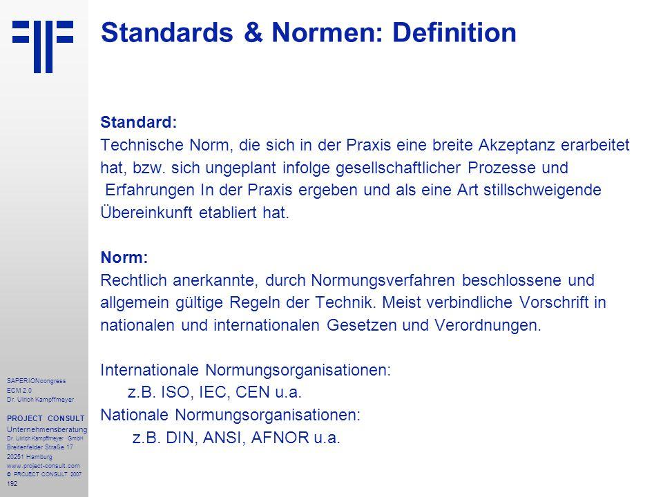 192 SAPERIONcongress ECM 2.0 Dr.Ulrich Kampffmeyer PROJECT CONSULT Unternehmensberatung Dr.