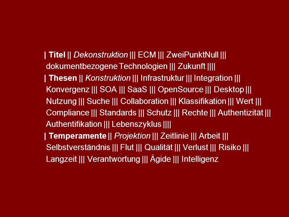 5 SAPERIONcongress ECM 2.0 Dr.Ulrich Kampffmeyer PROJECT CONSULT Unternehmensberatung Dr.