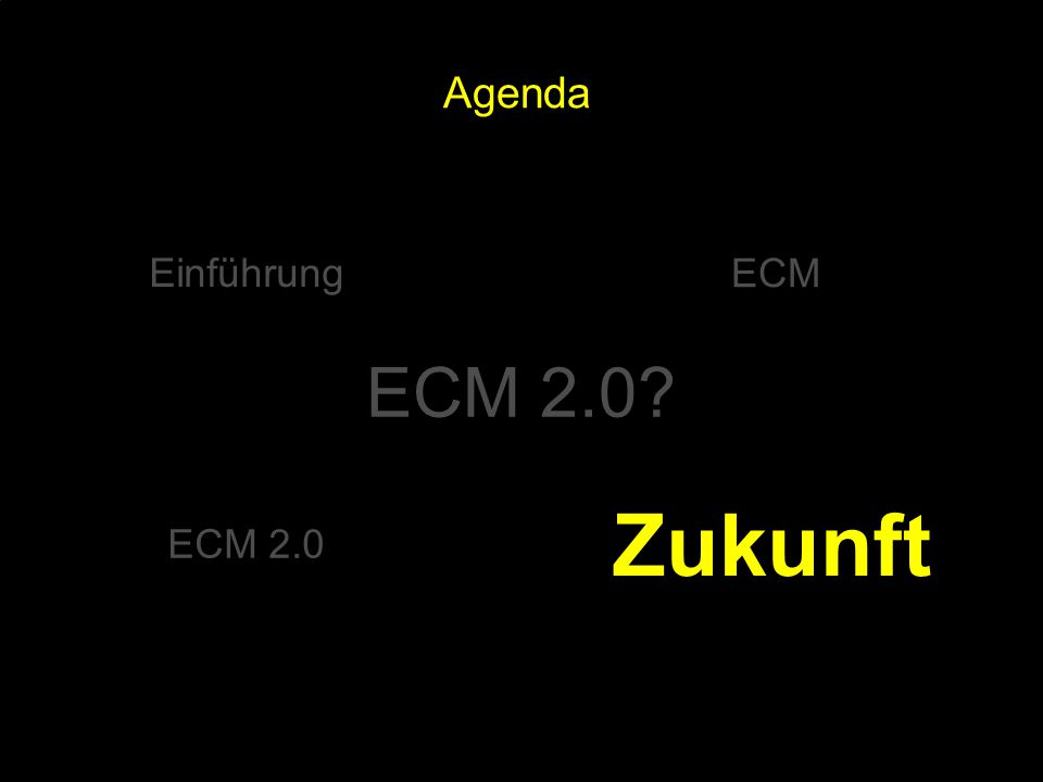 100 Kernpunkt Kompetenztag ECM 2.0. Dr.