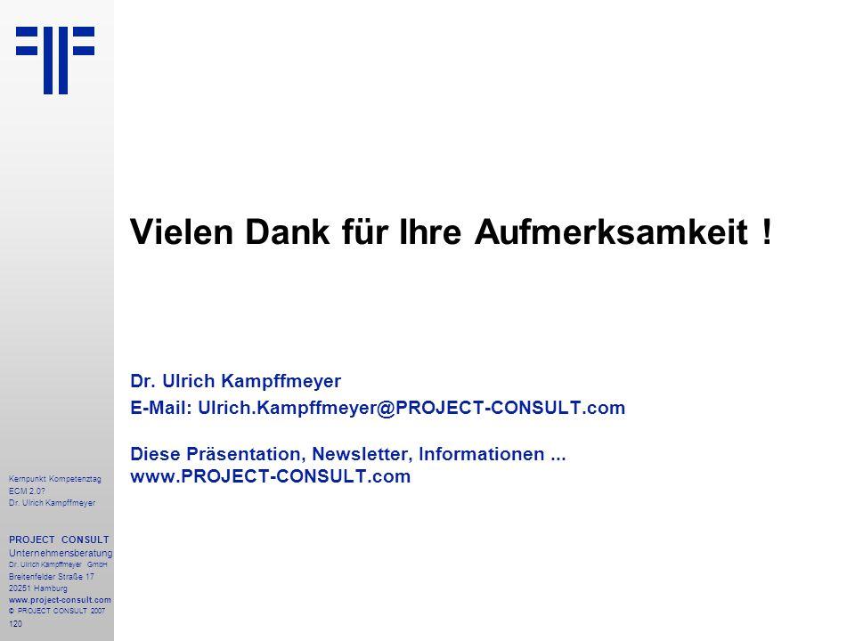 120 Kernpunkt Kompetenztag ECM 2.0. Dr.