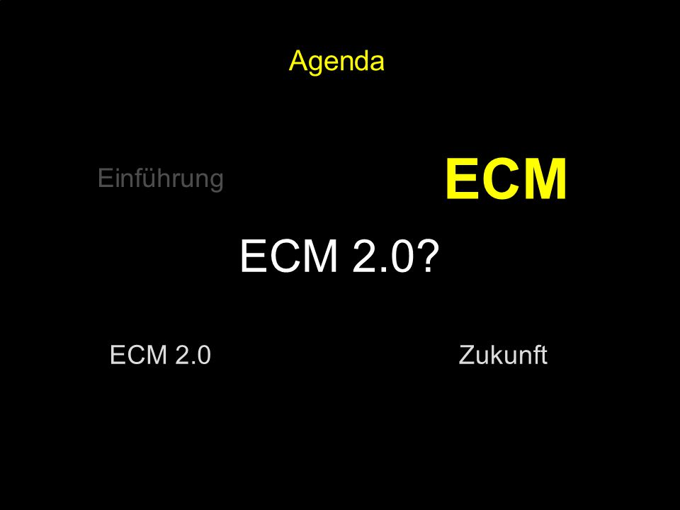 17 Kernpunkt Kompetenztag ECM 2.0. Dr. Ulrich Kampffmeyer PROJECT CONSULT Unternehmensberatung Dr.