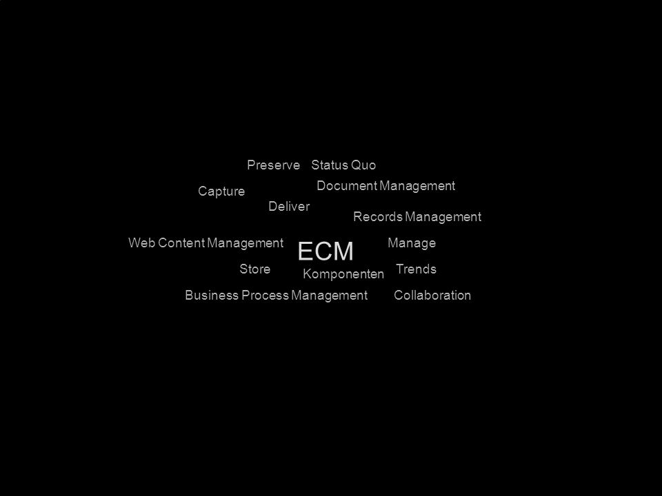 18 Kernpunkt Kompetenztag ECM 2.0. Dr. Ulrich Kampffmeyer PROJECT CONSULT Unternehmensberatung Dr.