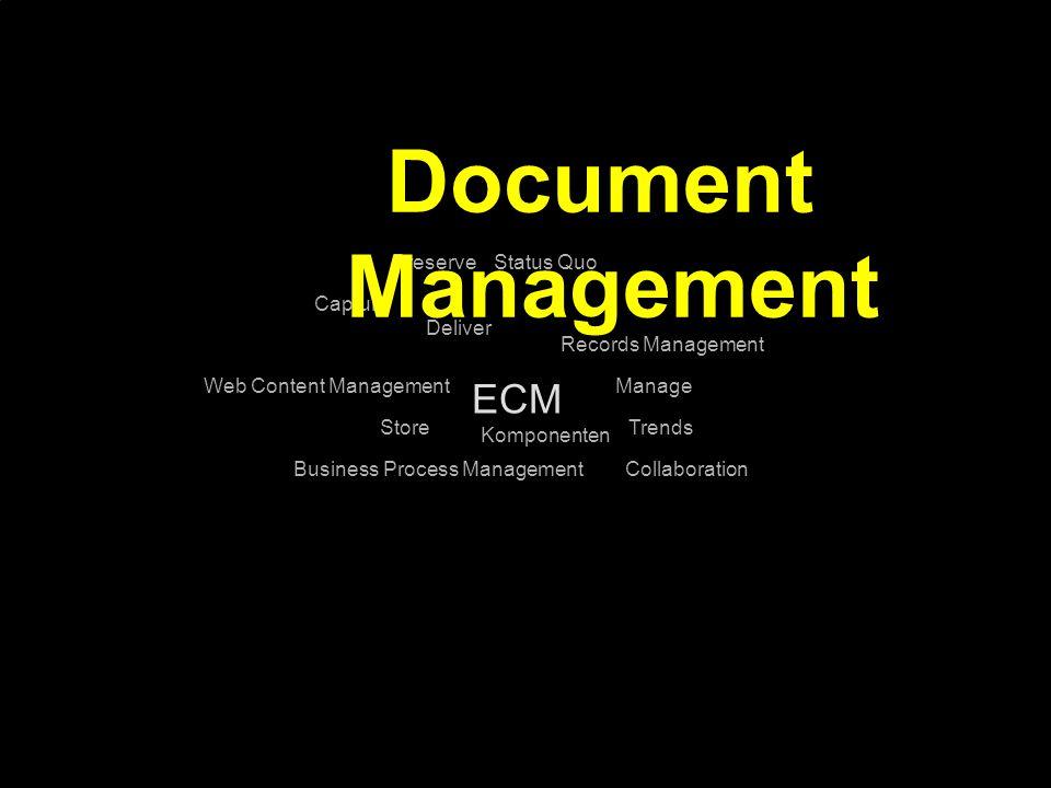 29 Kernpunkt Kompetenztag ECM 2.0. Dr. Ulrich Kampffmeyer PROJECT CONSULT Unternehmensberatung Dr.