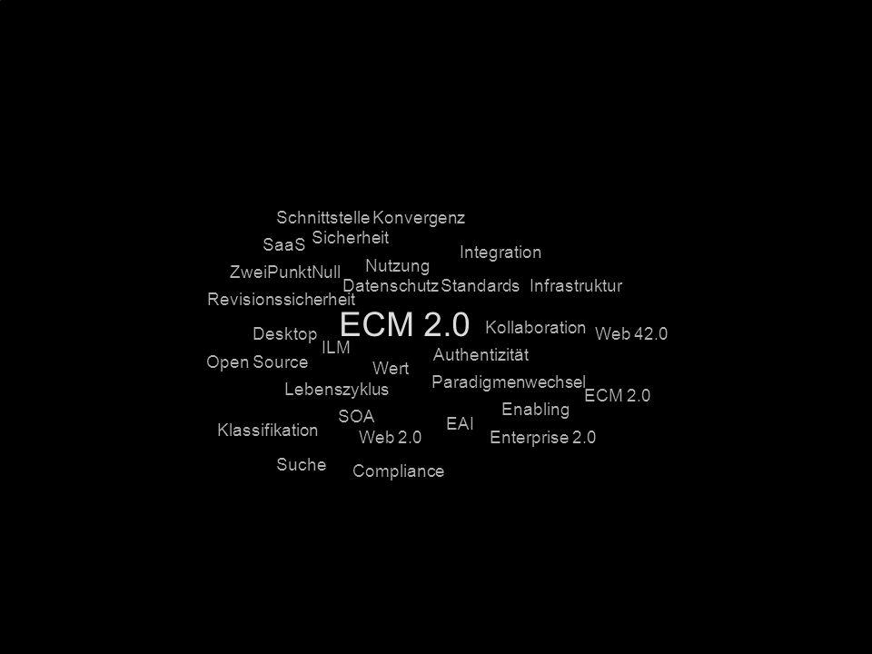 73 Kernpunkt Kompetenztag ECM 2.0. Dr. Ulrich Kampffmeyer PROJECT CONSULT Unternehmensberatung Dr.