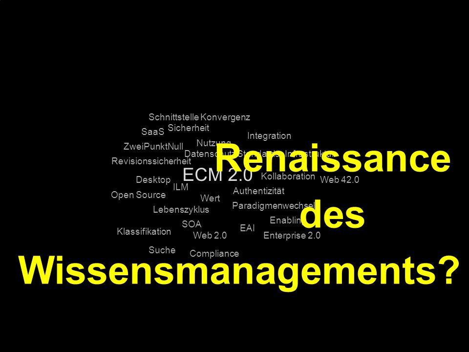 77 Kernpunkt Kompetenztag ECM 2.0. Dr. Ulrich Kampffmeyer PROJECT CONSULT Unternehmensberatung Dr.