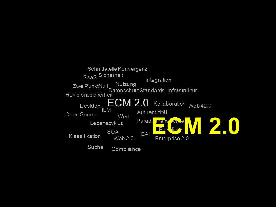 78 Kernpunkt Kompetenztag ECM 2.0. Dr. Ulrich Kampffmeyer PROJECT CONSULT Unternehmensberatung Dr.