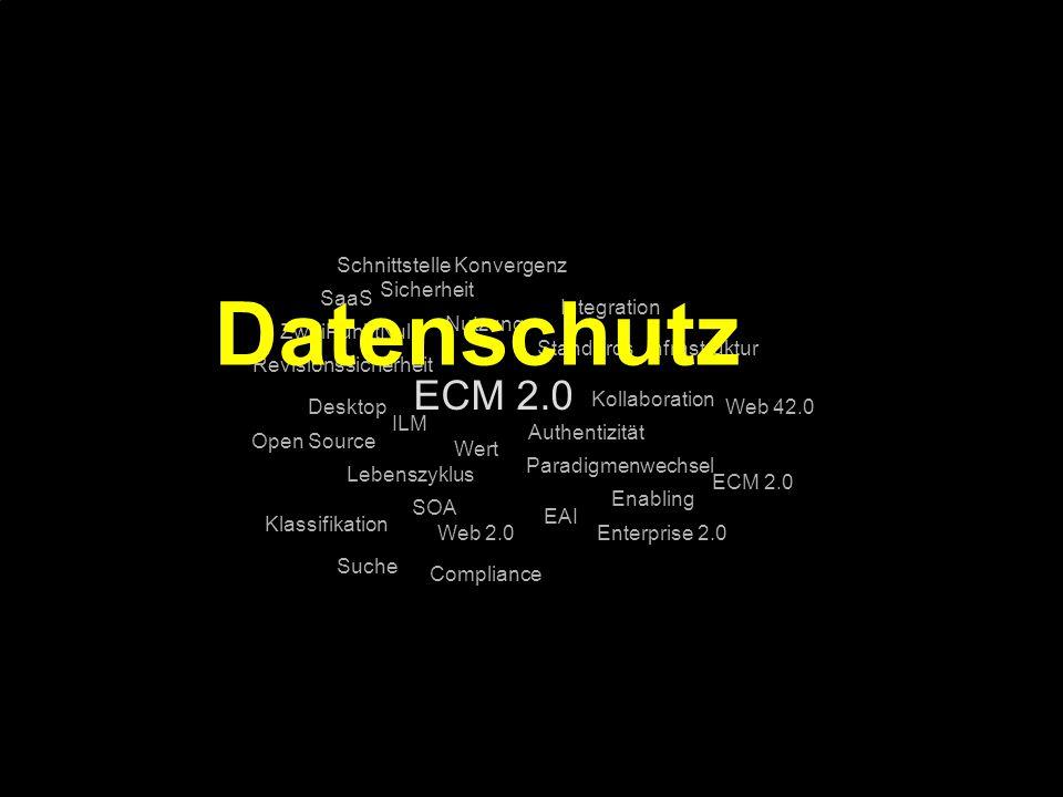 95 Kernpunkt Kompetenztag ECM 2.0. Dr. Ulrich Kampffmeyer PROJECT CONSULT Unternehmensberatung Dr.