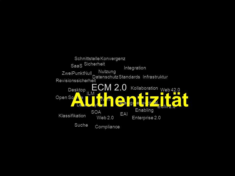 97 Kernpunkt Kompetenztag ECM 2.0. Dr. Ulrich Kampffmeyer PROJECT CONSULT Unternehmensberatung Dr.