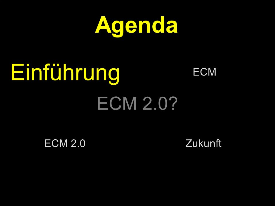 35 Kernpunkt Kompetenztag ECM 2.0.Dr. Ulrich Kampffmeyer PROJECT CONSULT Unternehmensberatung Dr.