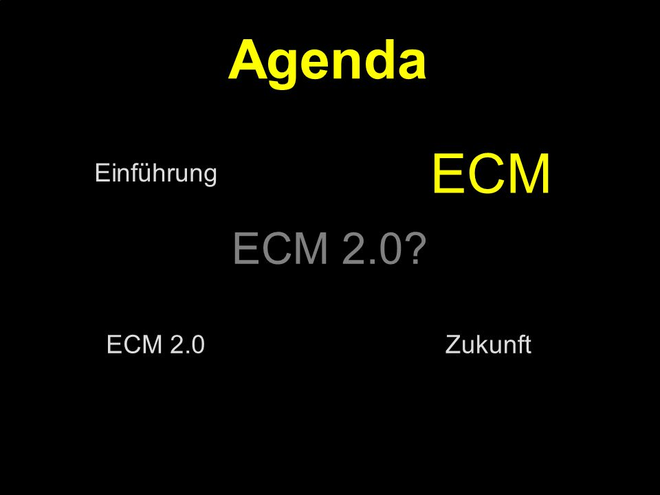 36 Kernpunkt Kompetenztag ECM 2.0.Dr. Ulrich Kampffmeyer PROJECT CONSULT Unternehmensberatung Dr.