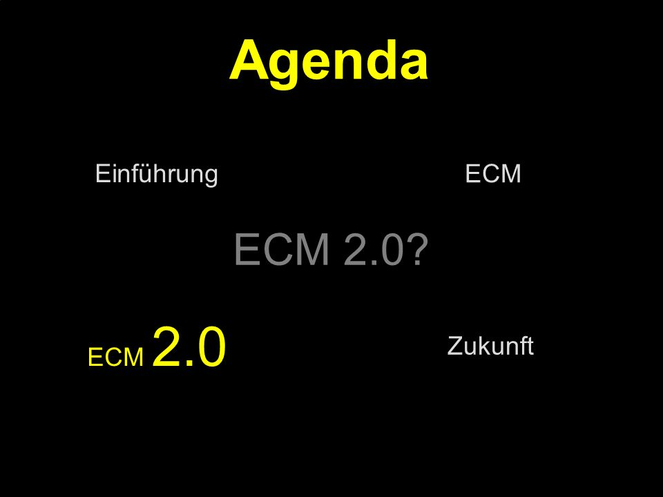 27 Kernpunkt Kompetenztag ECM 2.0.Dr. Ulrich Kampffmeyer PROJECT CONSULT Unternehmensberatung Dr.