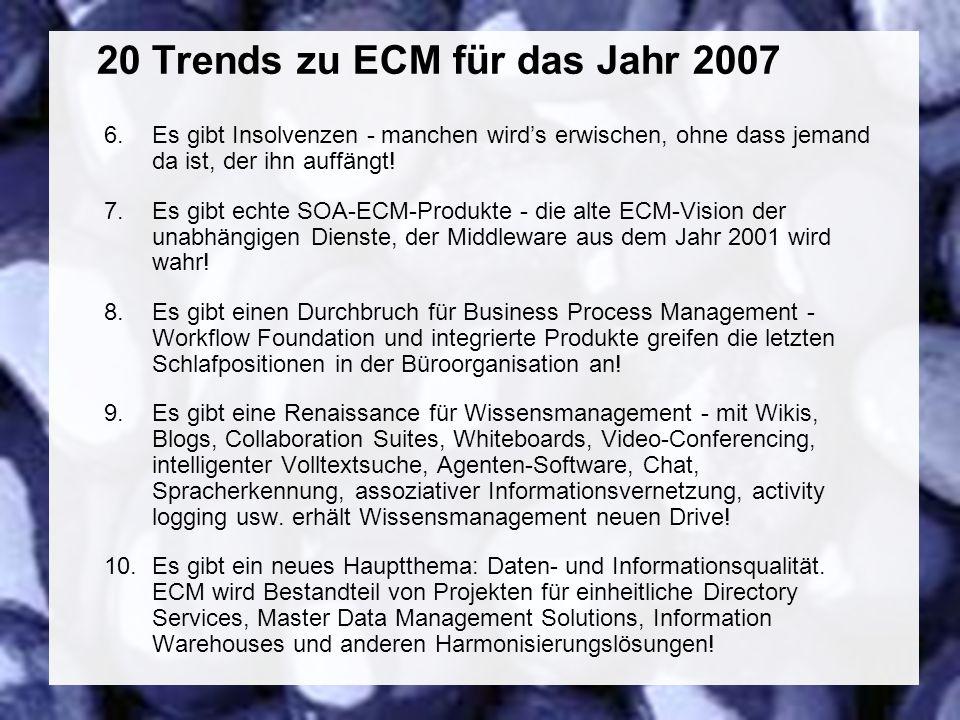 47 Coextant Enterprise Content Management: Status Quo und Zukunft Dr.