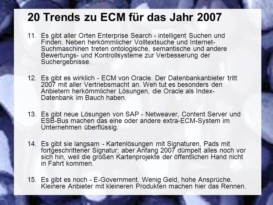 48 Coextant Enterprise Content Management: Status Quo und Zukunft Dr.