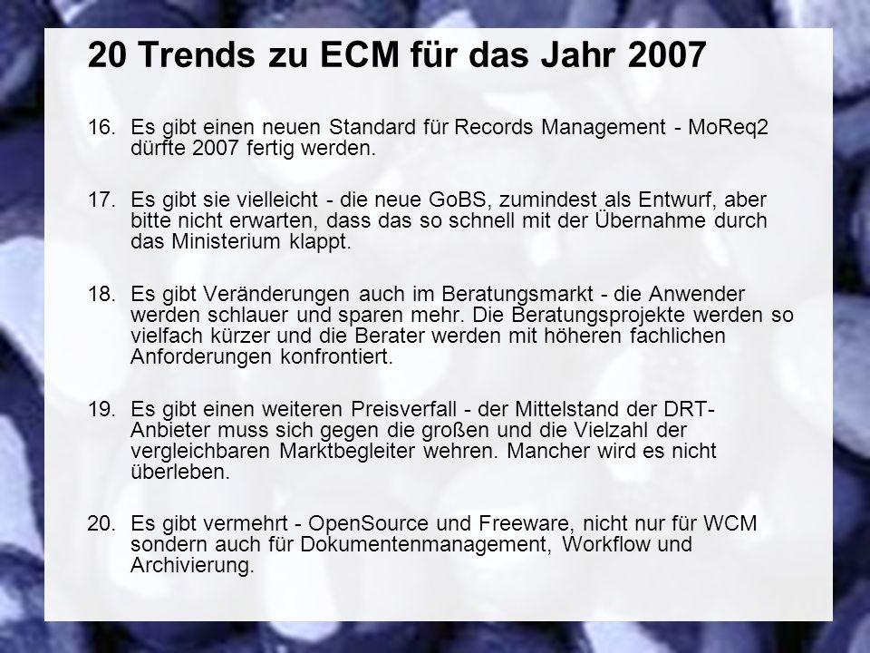 49 Coextant Enterprise Content Management: Status Quo und Zukunft Dr.