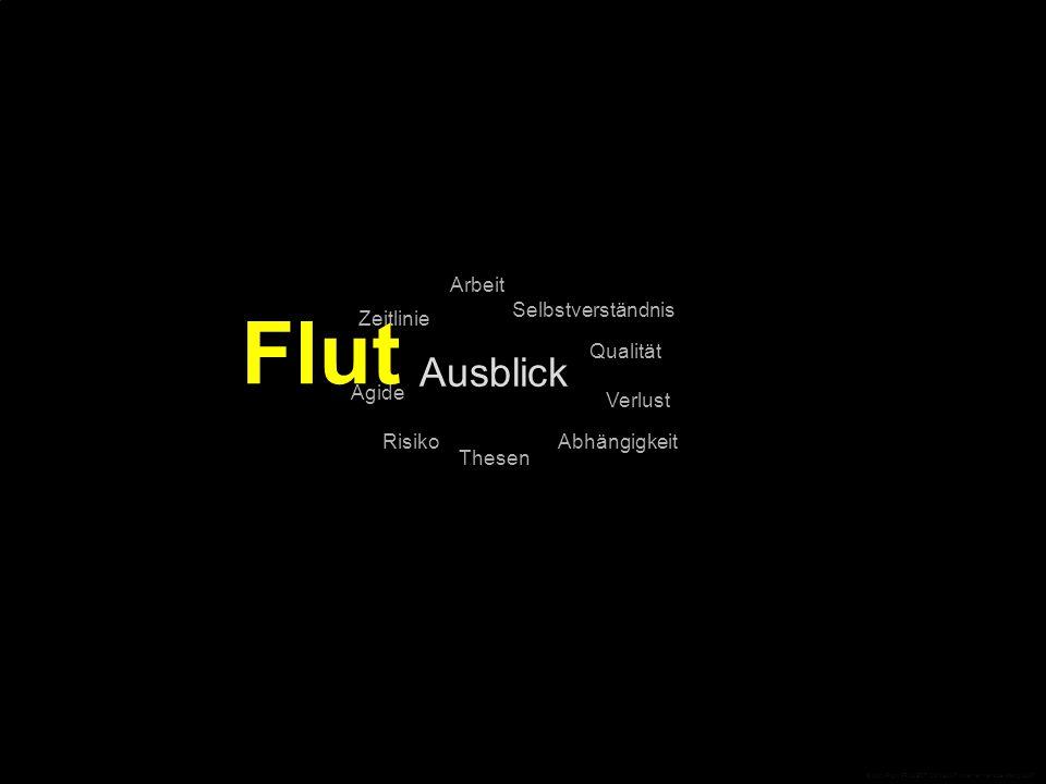 Ausblick Qualität Selbstverständnis Arbeit Zeitlinie Thesen Ägide RisikoAbhängigkeit Verlust Flut © CopyRight PROJECT CONSULT Unternehmensberatung 2007