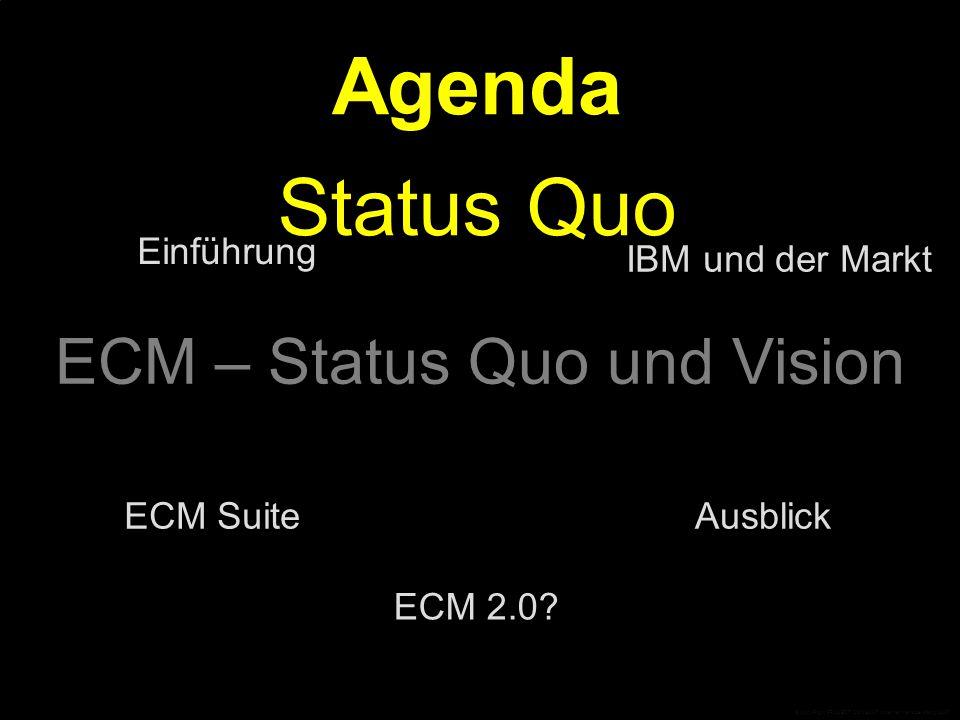 Status Quo ECM-Modell Deliver Preserve Store Business Process Management Records Management Web Content Management Document Management Manage Capture Grundprinzipien Collaboration © CopyRight PROJECT CONSULT Unternehmensberatung 2007