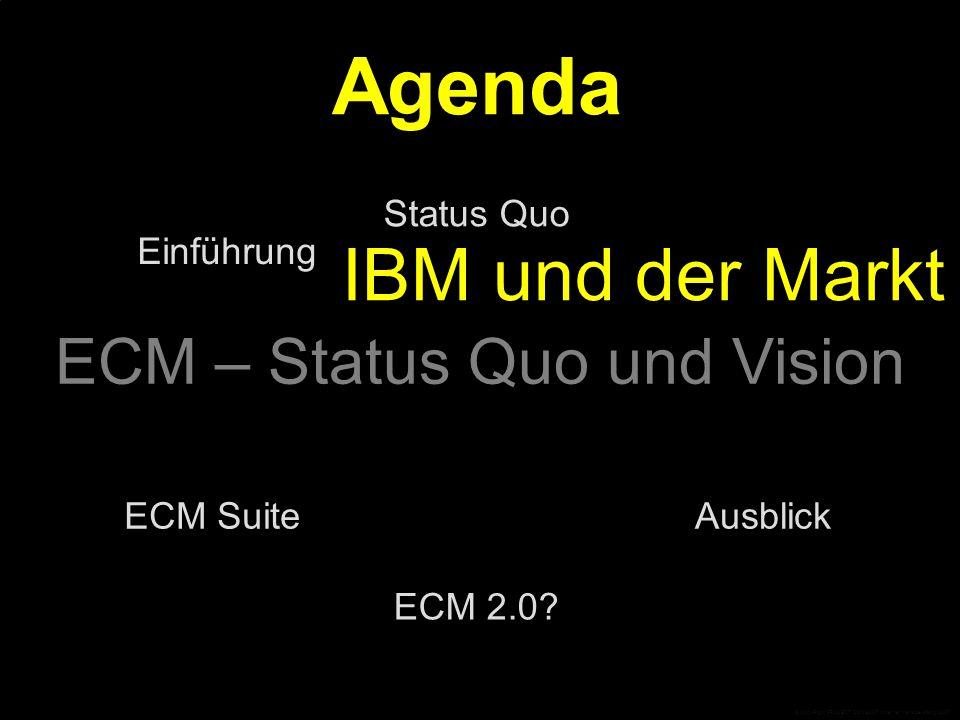 IBM und der Markt Gartner IBM&FileNet Angreifer Trends Traditionelle Anbieter Marktentwicklung Wachstum Der Markt wächst stürmisch… Das Wachstum verteilt sich jedoch auf viele alte und neue Anbieter © CopyRight PROJECT CONSULT Unternehmensberatung 2007