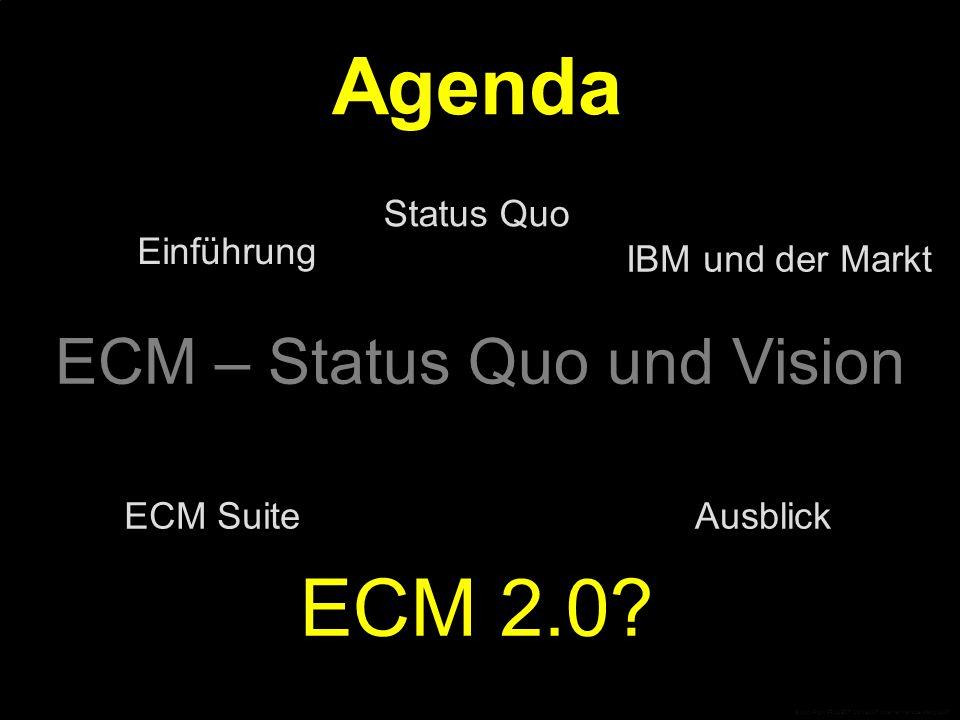 """ECM 2.0 ist der """"Enabler zur Erfüllung von Compliance-Anforderungen """"Es muss eine rechtliche Angleichung der elektronischen Welt an die Papierwelt stattfinden."""