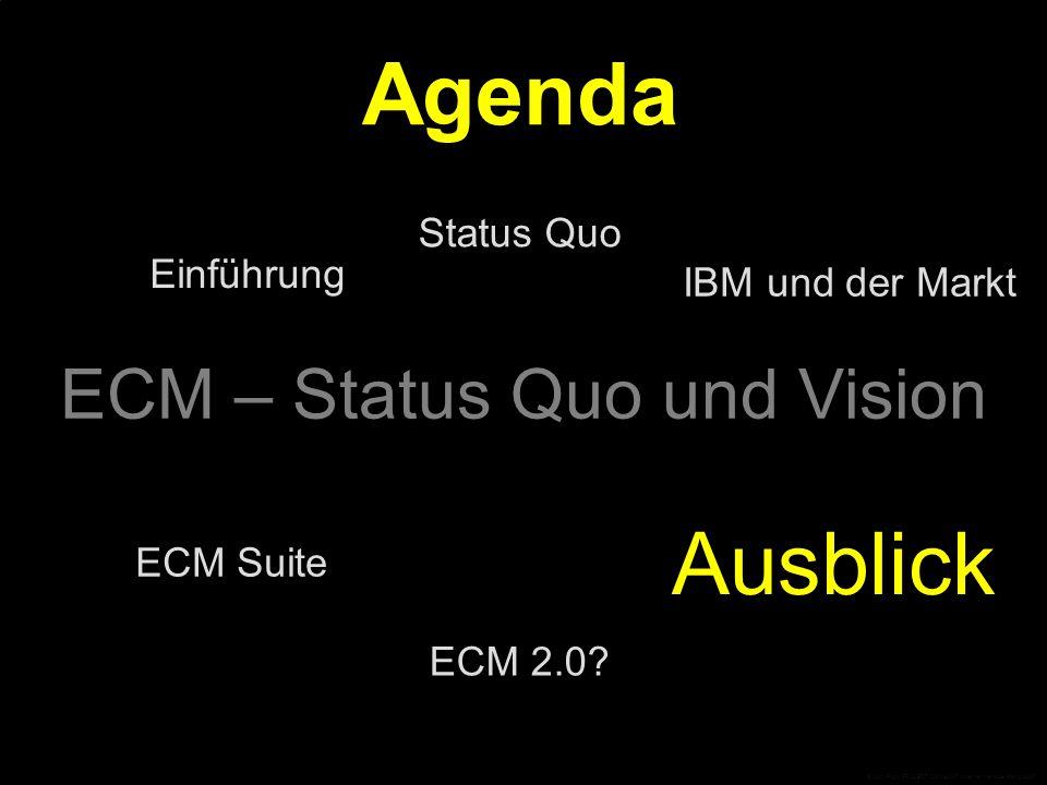 ECM 1.0 als Infrastruktur ECM ist Infrastruktur.