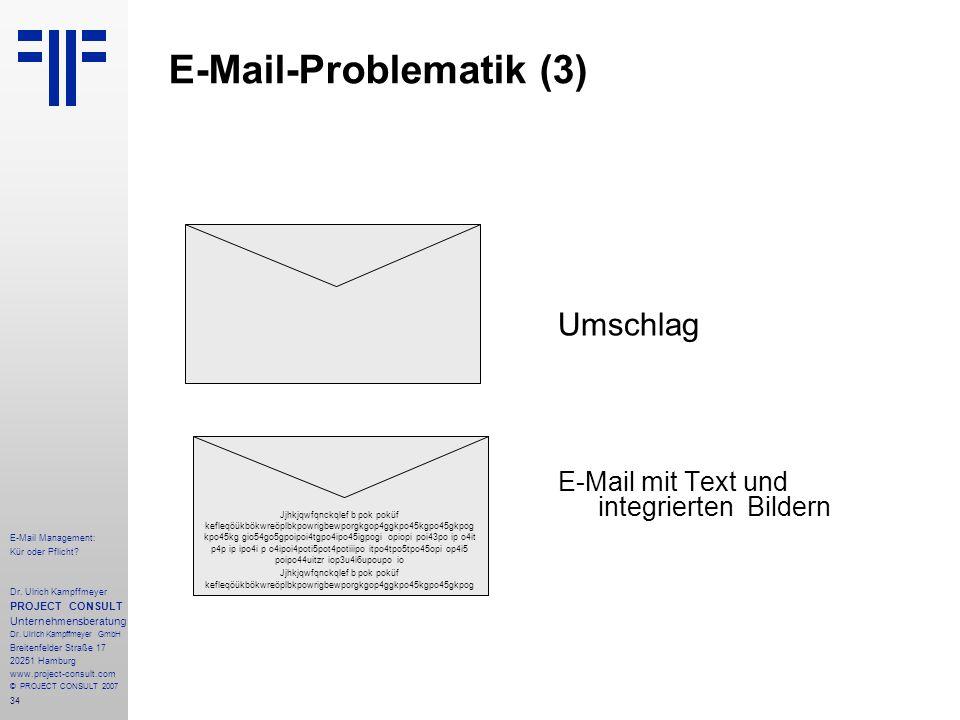 34 E-Mail Management: Kür oder Pflicht. Dr.