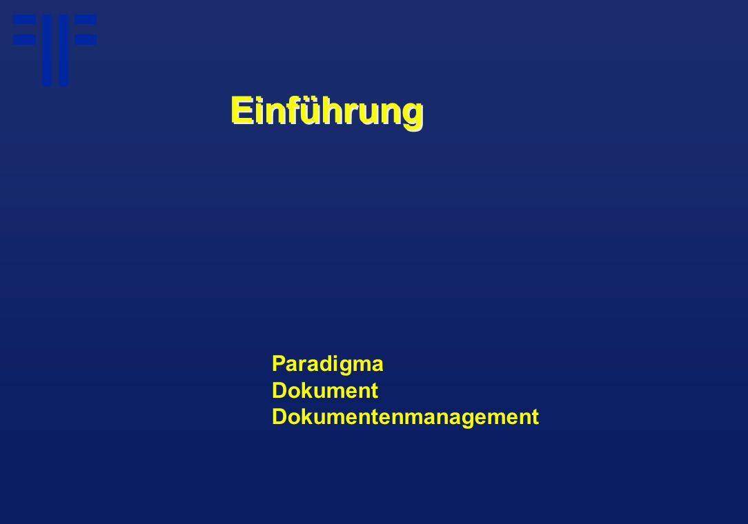 Paradigma Dokument Dokumentenmanagement