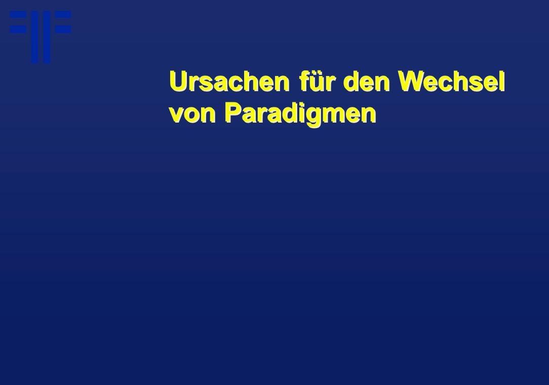 Ursachen für den Wechsel von Paradigmen