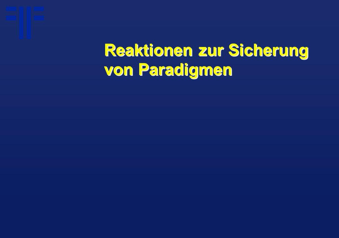Reaktionen zur Sicherung von Paradigmen