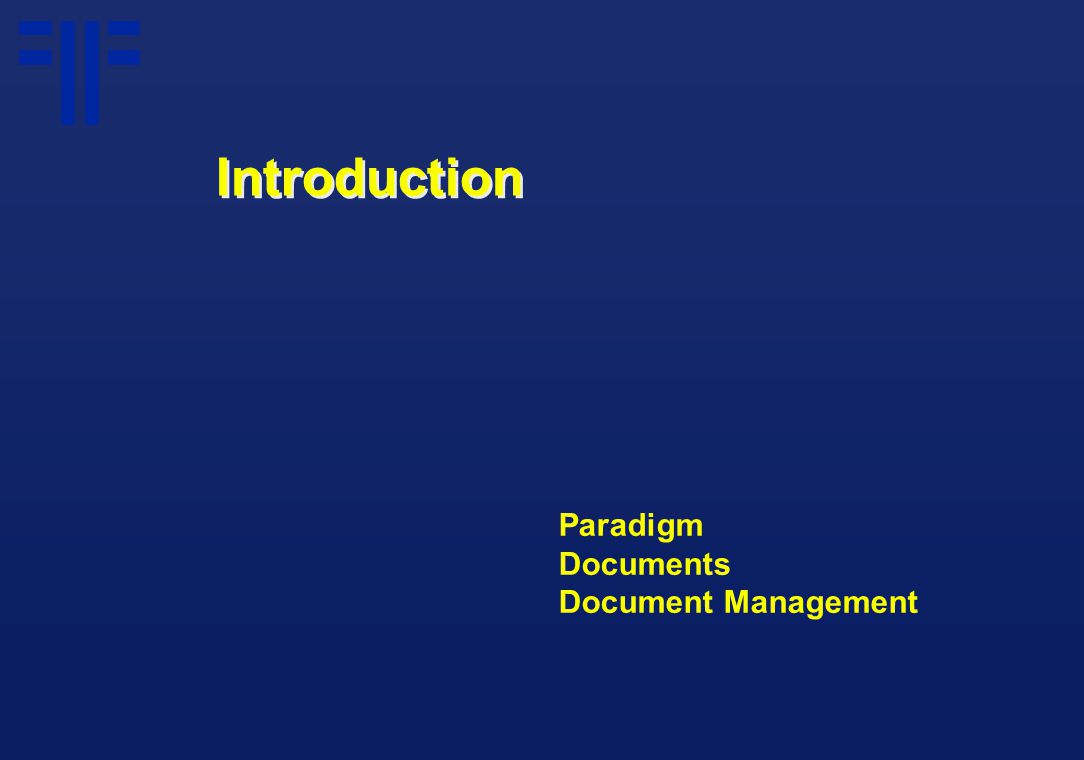 Paradigm Documents Document Management