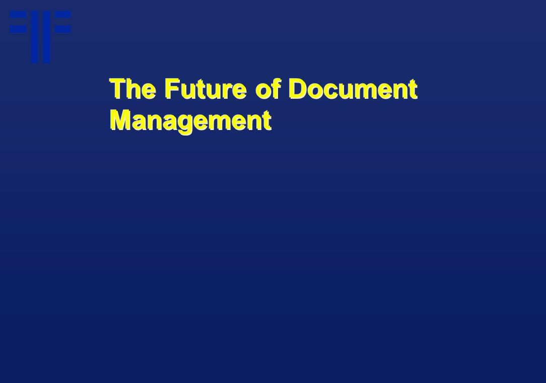 The Future of Document Management