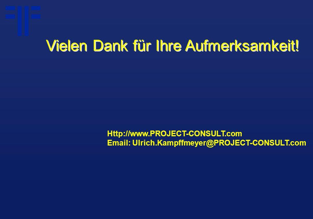 Http://www.PROJECT-CONSULT.com Email: Ulrich.Kampffmeyer@PROJECT-CONSULT.com Vielen Dank für Ihre Aufmerksamkeit!