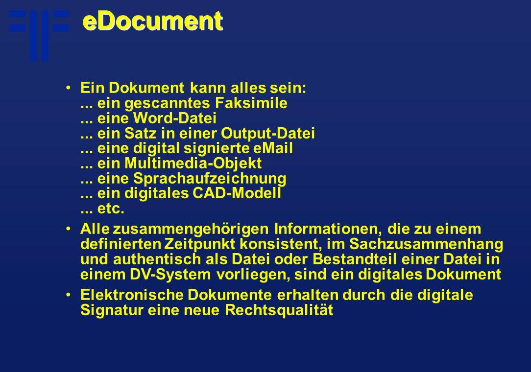 eDocument Ein Dokument kann alles sein:... ein gescanntes Faksimile...