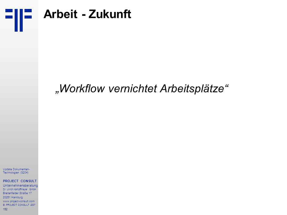 152 Update Dokumenten- Technologien (S204) PROJECT CONSULT Unternehmensberatung Dr. Ulrich Kampffmeyer GmbH Breitenfelder Straße 17 20251 Hamburg www.