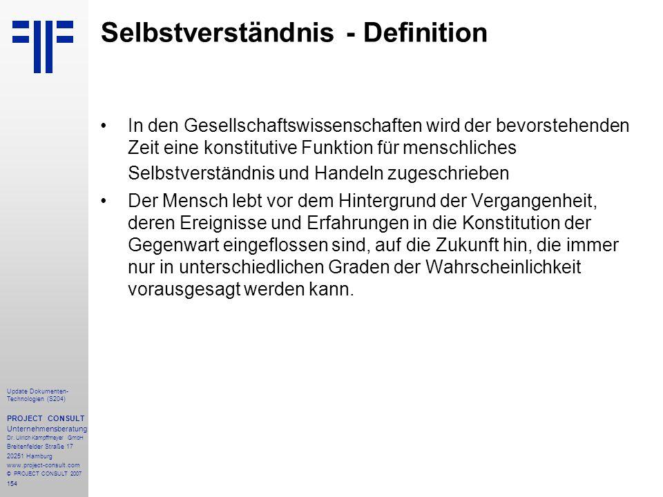 154 Update Dokumenten- Technologien (S204) PROJECT CONSULT Unternehmensberatung Dr. Ulrich Kampffmeyer GmbH Breitenfelder Straße 17 20251 Hamburg www.