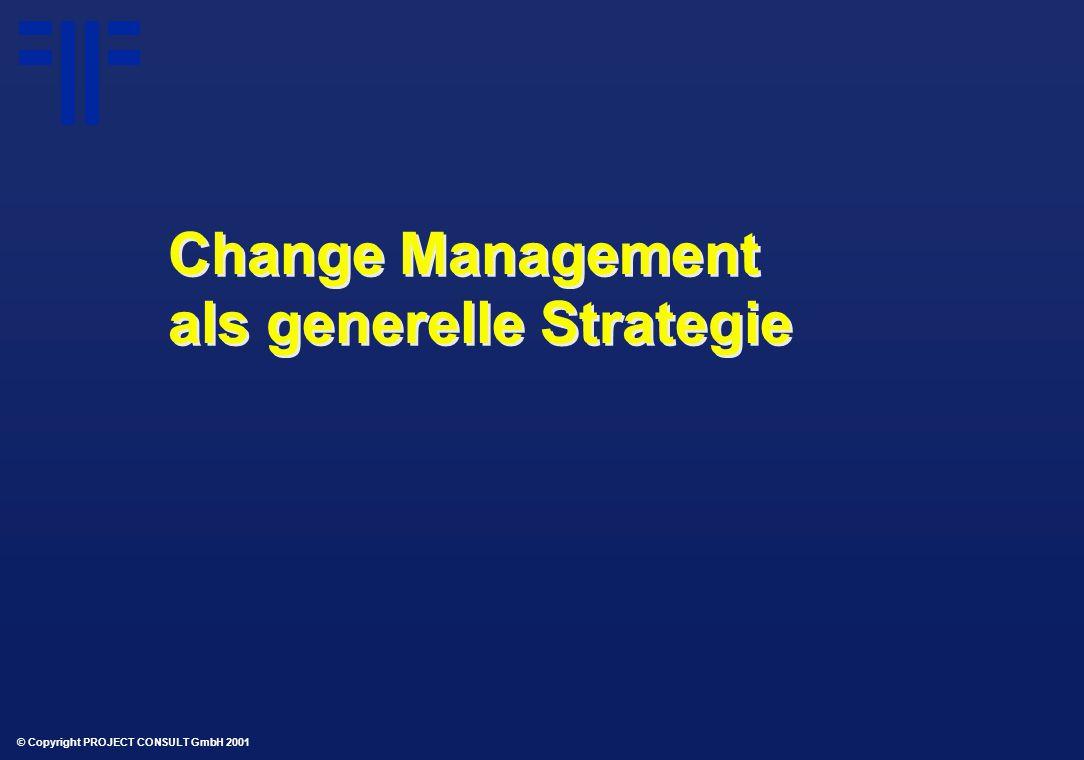 © Copyright PROJECT CONSULT GmbH 2001 Change Management als generelle Strategie