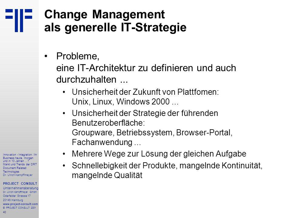 40 Innovation - Integration: Ihr Business heute, morgen und in 10 Jahren....